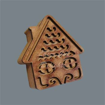 Layered 18mm Christmas Cottage Swirls / Laser Cut Delights