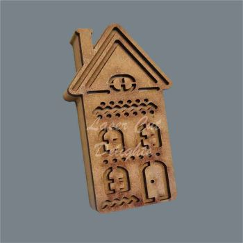 Layered 18mm Christmas Cottage Tall / Laser Cut Delights