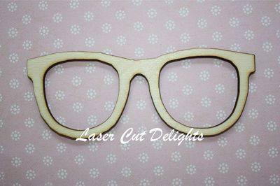 Geek Glasses 13x5cm 3mm
