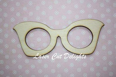 Posh Glasses 3mm 13x5cm
