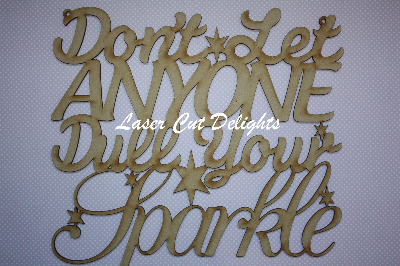 Don't let ANYONE dull your SPARKLE 3mm 30x30cm
