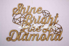 Shine Bright Like A Diamond 3mm 25x30cm
