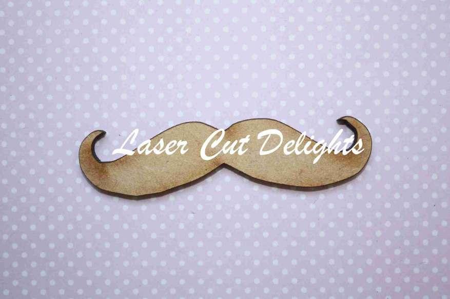 Moustache curling up 9x2cm