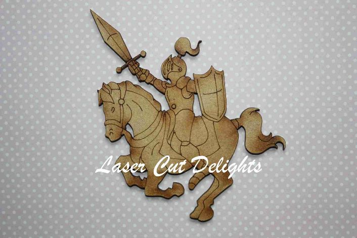 Knight on Horse 3mm 10cm