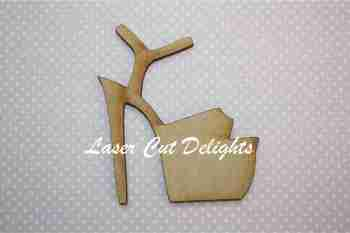 High Heel Shoe Stilletto Strapped 3mm 10cm