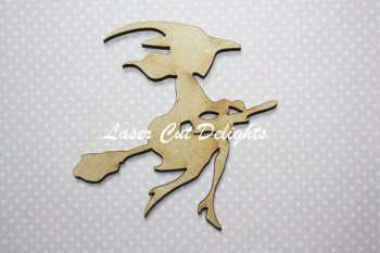 Witch on Broom (young) 3mm 8cm