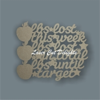 Weight Loss Slimming - lbs lost / Laser Cut Delights