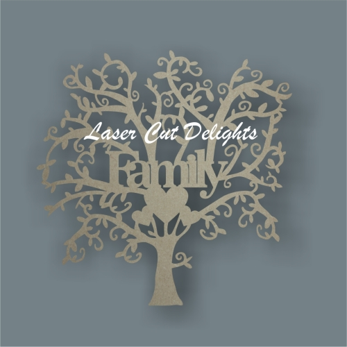 FAMILY tree with with Branches (3 hearts) 3mm