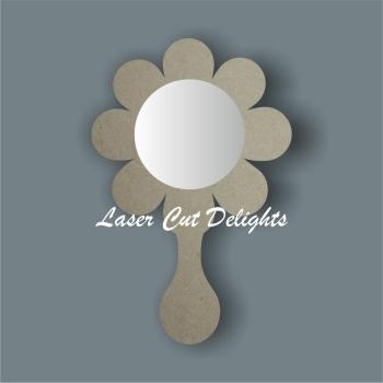 Handheld Mirror FLOWER / Laser Cut Delights