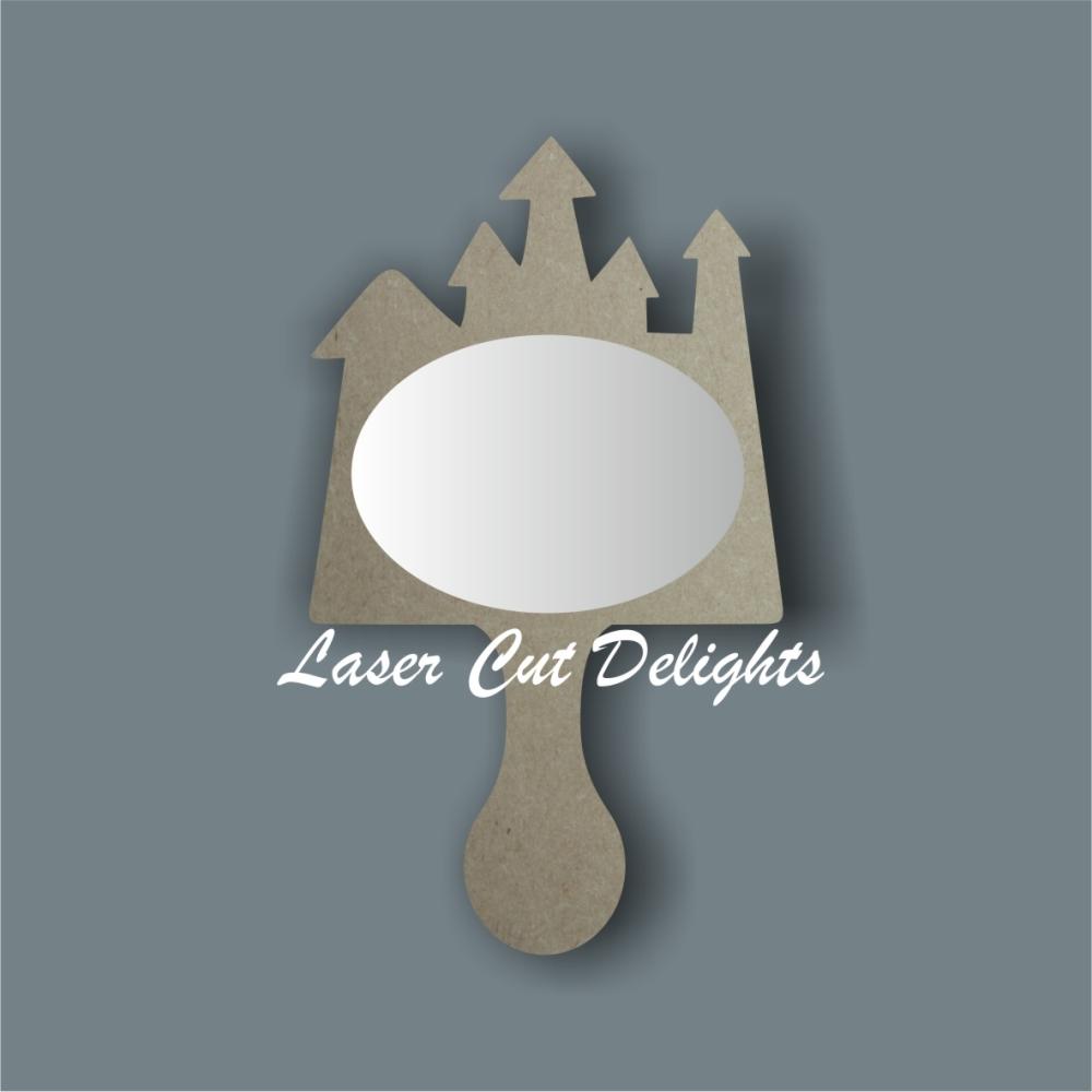 Handheld Mirror CASTLE / Laser Cut Delights