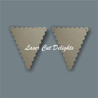 Scalloped Flag Bunting / Laser Cut Delights