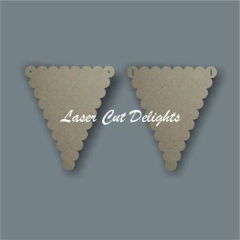 Scalloped Flag Bunting 3mm (14x12)