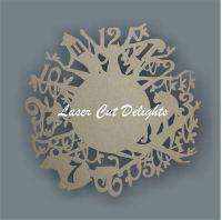 CLOCK - Jungle Theme / Laser Cut Delights