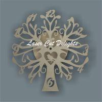 CLOCK - Tree with Bird / Laser Cut Delights