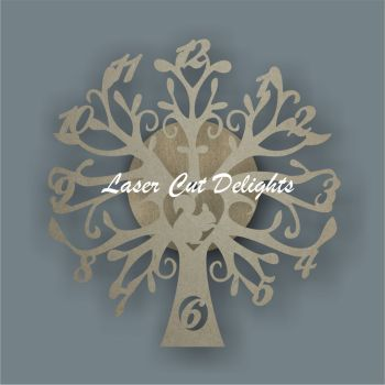 CLOCK - Tree with Squirrel / Laser Cut Delights