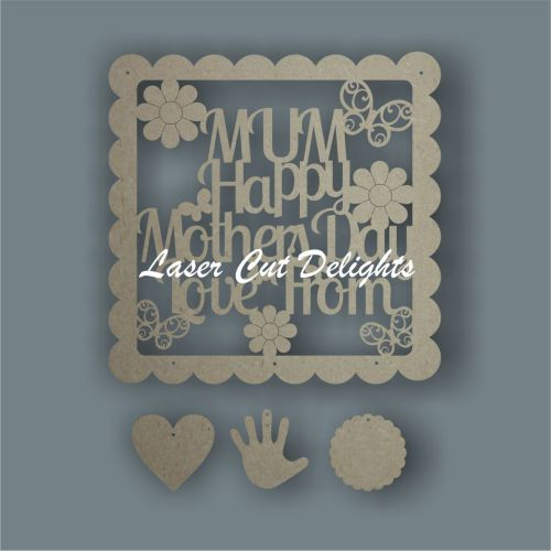 Scalloped Square - MUM Happy Mothers Day