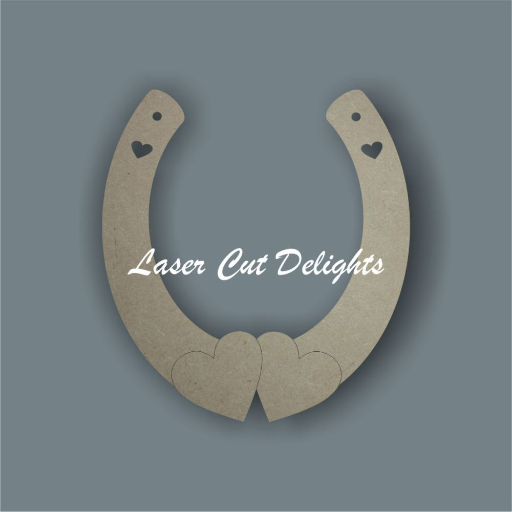 Horseshoe Double Bottom Hearts 3mm 15cm