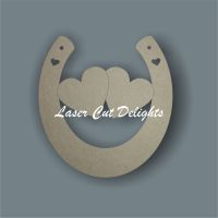 Horseshoe Double Middle Hearts 3mm 15cm