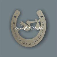Horseshoe with Stork Centre 3mm 15cm