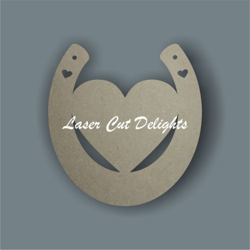 Horseshoe with Heart Centre 3mm 15cm