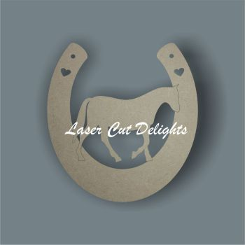 Horseshoe with Horse 3mm 15cm