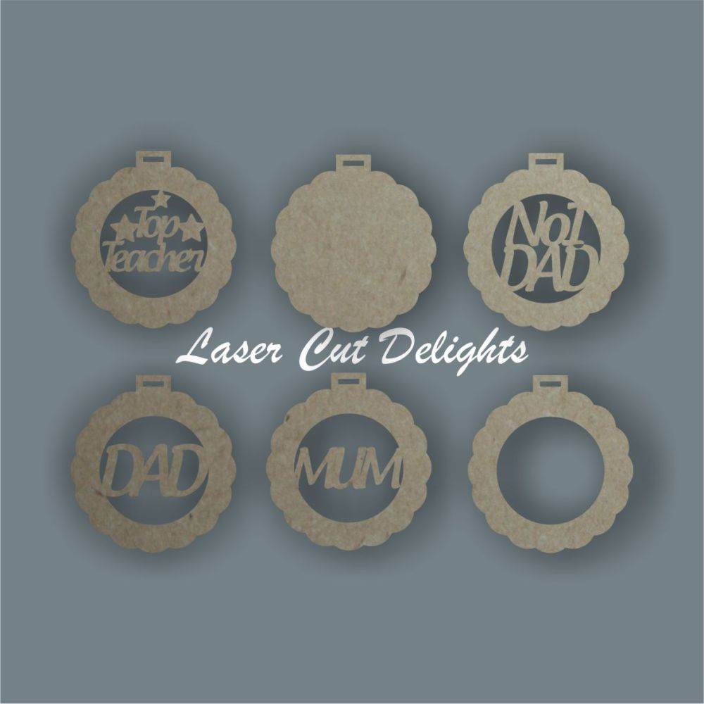 3D Medals (to add ribbons) / Laser Cut Delights