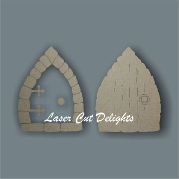 3D Fairy Door BRICK edged 3mm 15cm