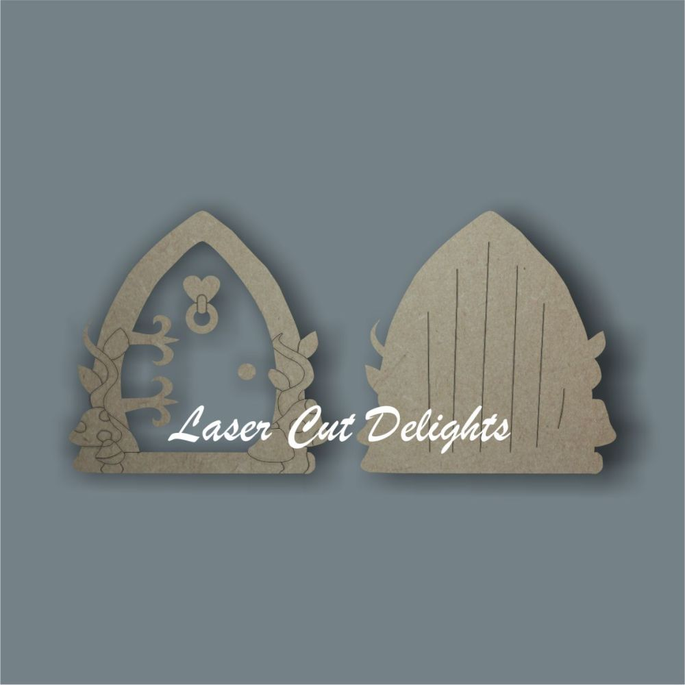 3D Fairy Door with MUSHROOMS / Laser Cut Delights
