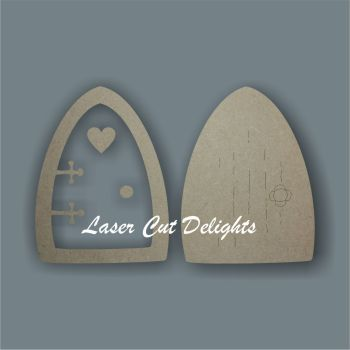 3D Fairy Door PLAIN edged 3mm
