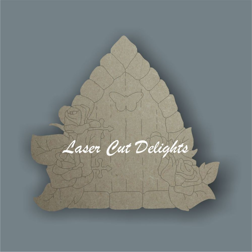 Fairy Door ROSE edged (flat) / Laser Cut Delights
