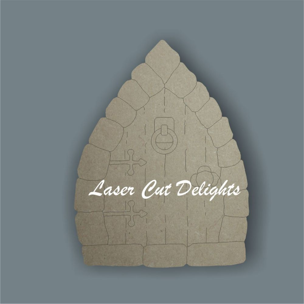 Fairy Door BRICK edged (flat) / Laser Cut Delights