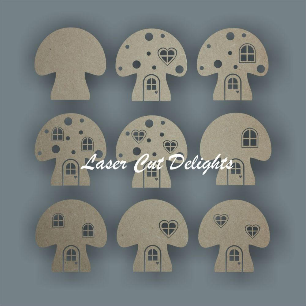 3D Fairy & Elf Mushroom Toadstool Door / Laser Cut Delights