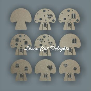3D Fairy & Elf Mushroom Toadstool Door 3mm