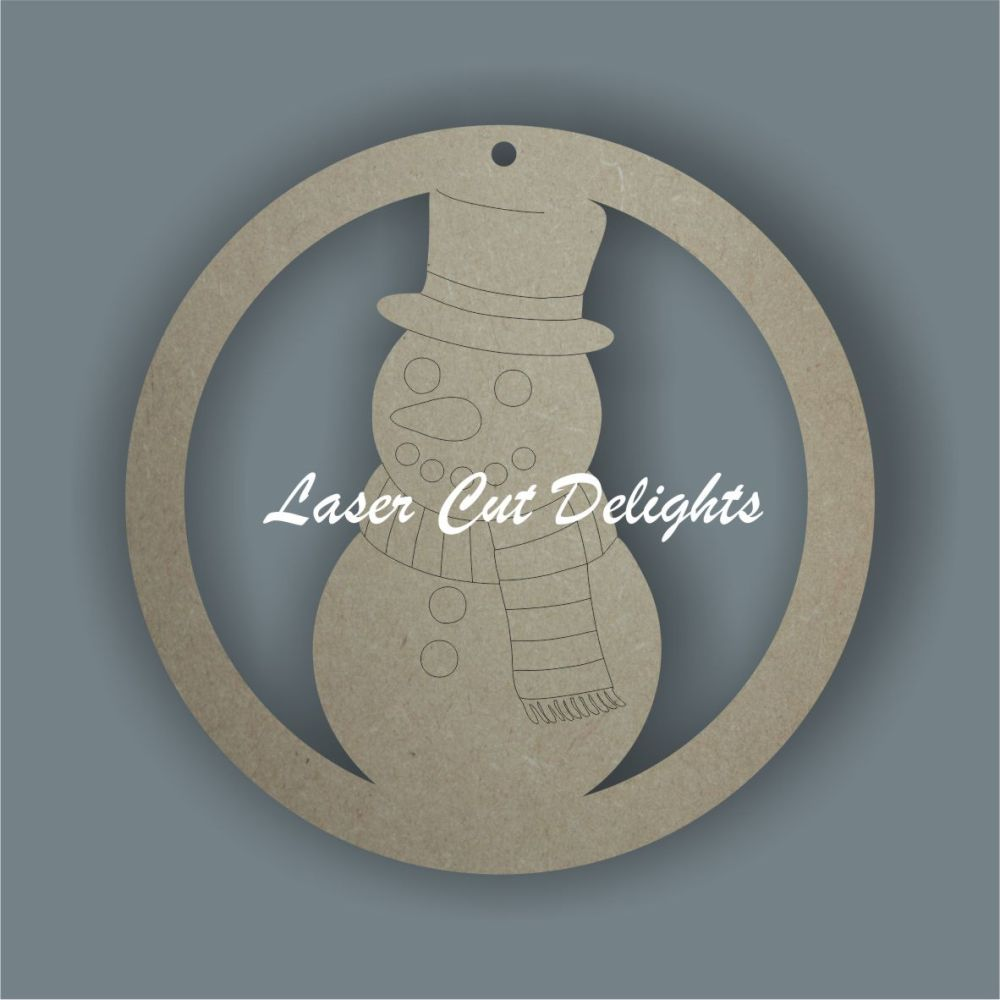 Bauble with snowman / Laser Cut Delights
