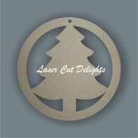 Bauble with tree / Laser Cut Delights