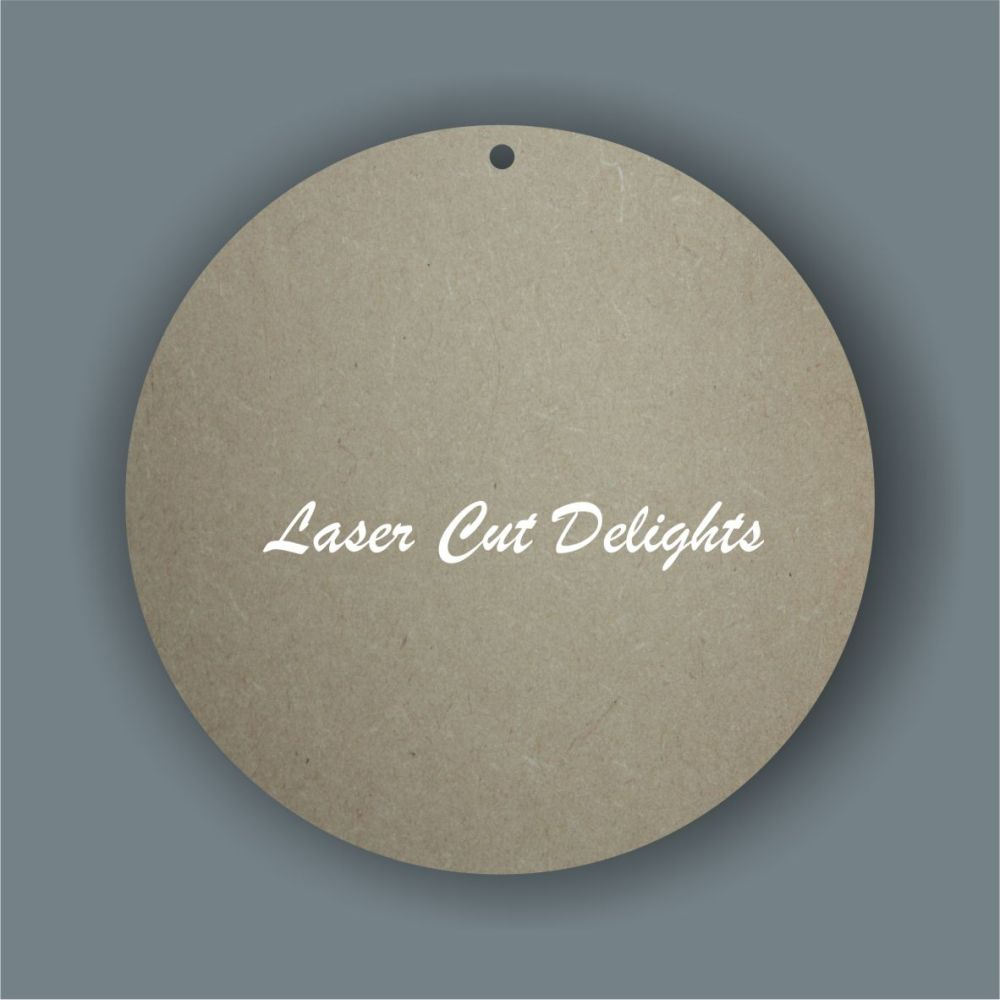 Bauble - plain circle 3mm / Laser Cut Delights