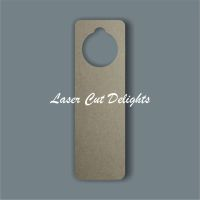 Door Hanger Curved Edges / Laser Cut Delights