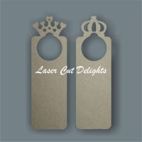 Door Hanger Prince or Princess / Laser Cut Delights