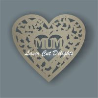 Heart of Butterflies with Family Member / Laser Cut Delights