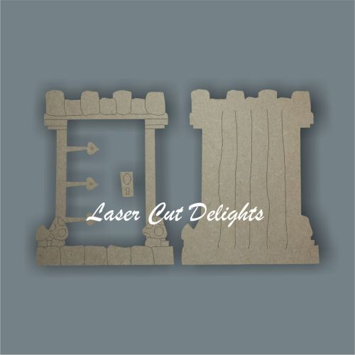 3D Fairy Door CASTLE 3mm 15cm