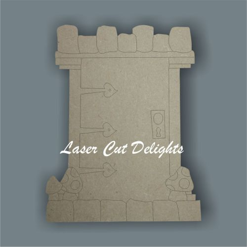 Fairy Door CASTLE (flat) 3mm 15cm