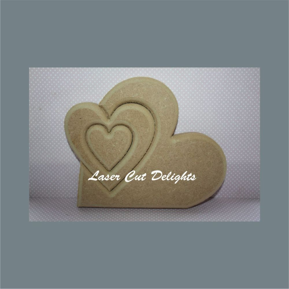 Shape in Heart (triple) / Laser Cut Delights