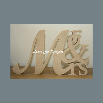 Mr & Mrs Stacked 18mm / Laser Cut Delights
