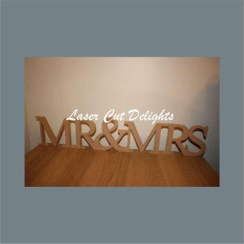MR & MRS various fonts (CAPITALS)  18mm