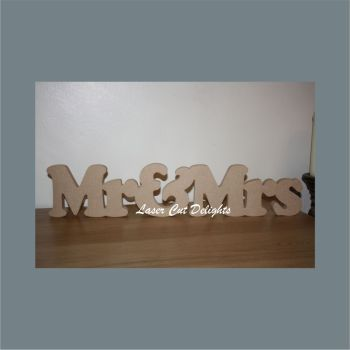 Mr & Mrs in Upper & Lower Case 18mm / Laser Cut Delights