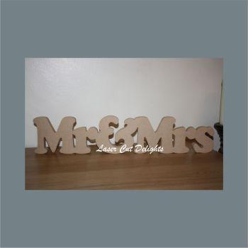 Mr & Mrs various options (Upper & Lower Case) 18mm