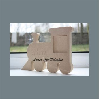 Train Photo Frame 18mm / Laser Cut Delights