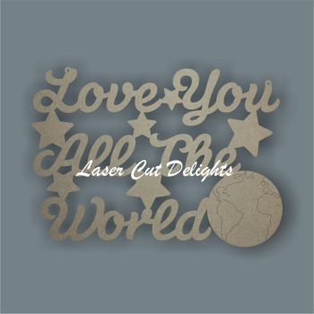 Love you all the world 3mm 30cm