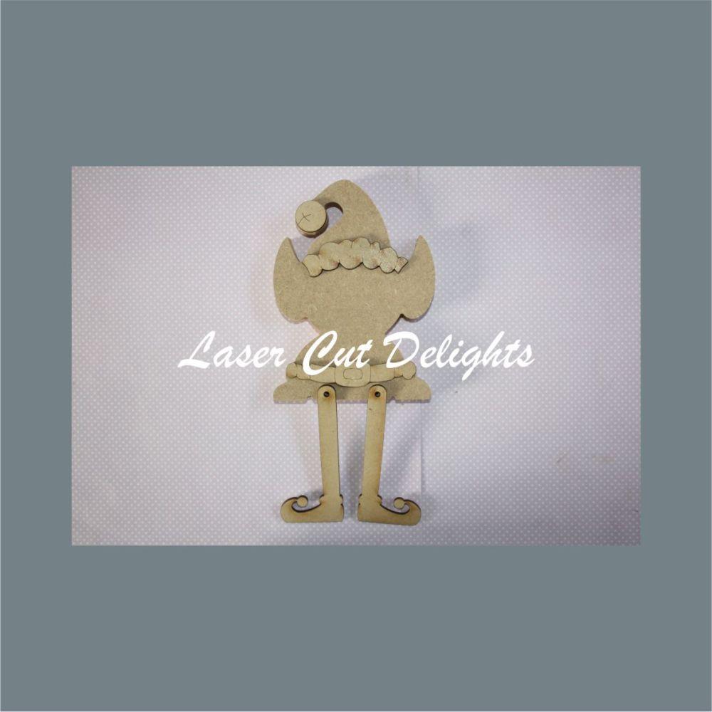 Edge Dangling Leg or Freestanding  3D ELF on a shelf 18mm 15cm