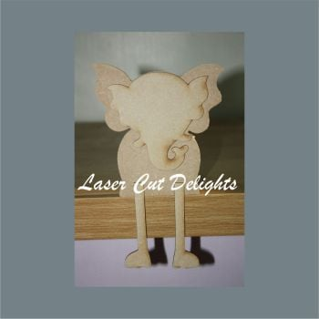 Edge Dangling ELEPHANT 18mm / Laser Cut Delights